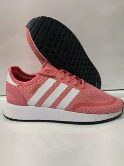 Adidas Junior N-5923 pink white tennis shoes size 6.5 # AC85