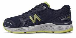 New Balance Kid's 680v5 Big Kids Male Shoes Navy with Green