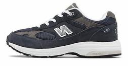 New Balance Kid's 993V1 Big Kids Unisex Shoes Navy With Whit