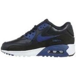Nike  Kid's Air Max 90 Leather Running Shoes, Black, 6.5 M U