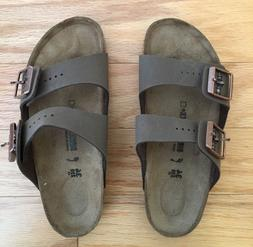 Birkenstock Kids Arizona Mocha Sandals Size 34 Brown Leather