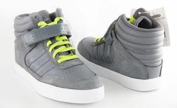 Kids Adidas BBNeo Upshur Mid Top Q16118 Gray White 100% Auth