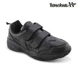 Kids Black School Uniform Shoes Hook Loop sneakers Size 2 Bo