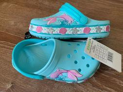 Crocs Kids' Boys and Girls Mermaid Band Clog, Ice Blue, Size