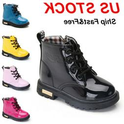 kids boys girls martin shoes winter warm