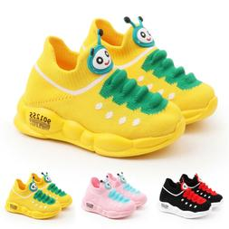 Kids Boys Girls Mesh Sport Running Shoes Toddler Trainers Sn
