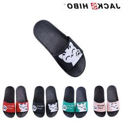 Kids Boys Girls Slides Cute Cat Sandals Children Indoor Outd