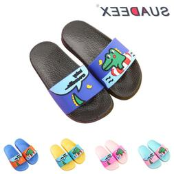 Kids Boys Girls Summer Casual Slide Slippers Soft Sandals Sl