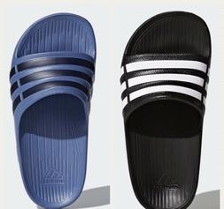 Adidas Kids Duramo Slides Sandals Blue Navy Black White Girl