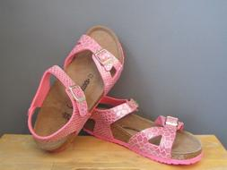 Birkenstock Kids Girl Shiny Snake Pink Rio Sandals US 2, 3 N