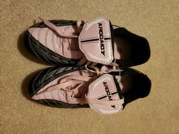 DIADORA Kids Girls Black & Pink Soccer Shoes Rubber Cleats Y