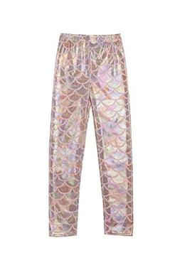 Arshiner Kids Girls Glittery Full Length Mermaid Fish Scale