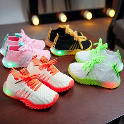 Kids LED Luminous Shoes Children Boys Girls Light Up Sneaker
