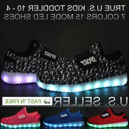 Kids Light Up Shoes Boys Girls LED Sneakers Luminous USB Cha