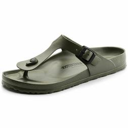 Kids Birkenstock Sandals Gizeh EVA Narrow Fit Khaki Flip Flo