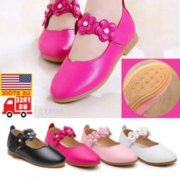 Kids Shoes Infant Girls Leather Flat Wedding Parties Toddler