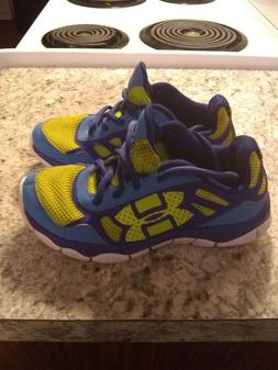 kids under armour shoes neon green size 2 youth