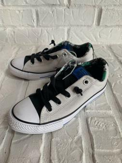 Converse Kids Shoes, Size 2, Gray, New