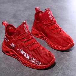 Kids Sneaker Mesh Breathable Athletic Running Tennis Shoes S