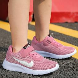 Kids Sneakers Mesh Breathable Sports Athletic Walking Runnin
