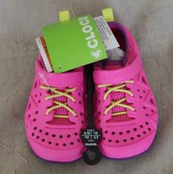 CROCS KIDS SWIFTWATER PLAY SHOE  GIRLS NEON MAGENTA CHILDREN