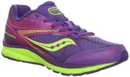 Saucony Girls Kinvara 4 Running Shoe ,Purple/Pink/Citron,4 M