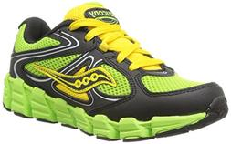 Saucony Boys Kotaro Running Shoe ,Slime/Black/Yellow,7 W US