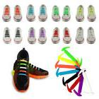 12pcs Cool Easy No Tie Shoelaces Elastic Silicone Flat Shoe