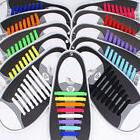16pcs/Set Easy No Tie Shoelaces Elastic Silicone Flat Shoe L