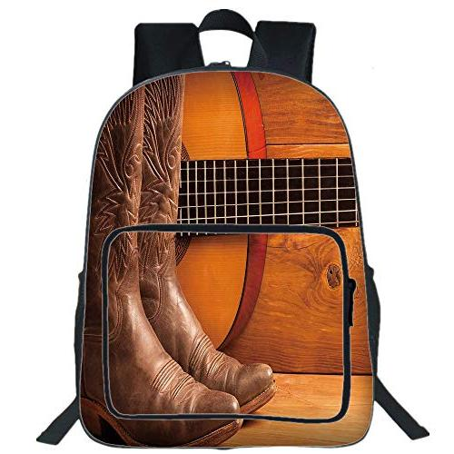 19 large casual backpack western american country