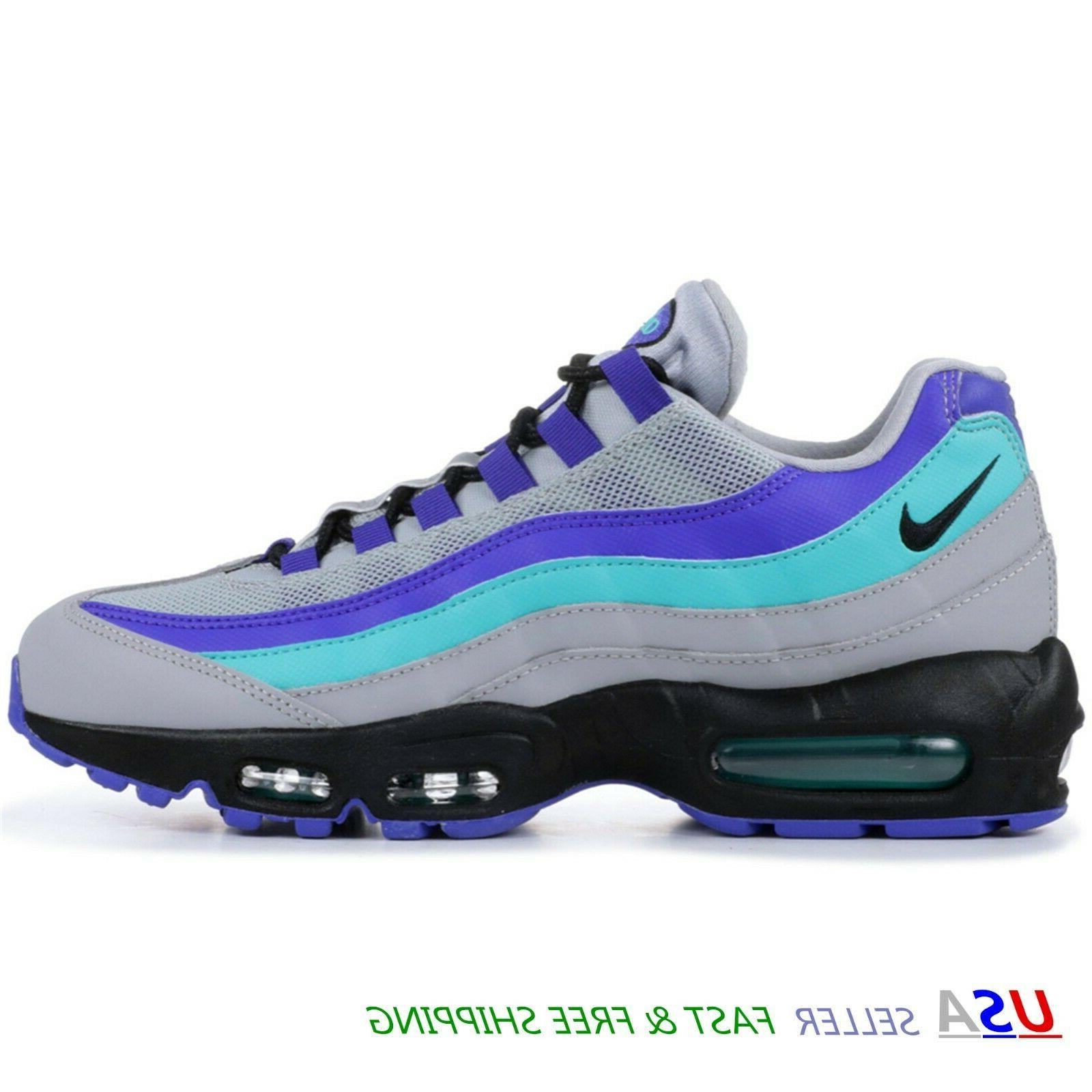 the latest 60cb1 22194 NIKE AIR MAX 95 Boy's Kids Sneakers Shoes 1.5Y WOLF GREY INDIGO BURST  905461 023