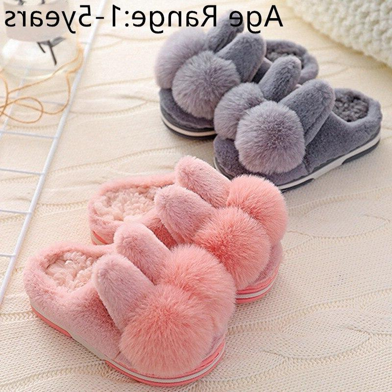 Baby Winter <font><b>Shoes</b></font> First Rabbit Baby <font><b>Kid</b></font> Slipper Casual