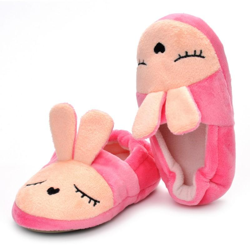 Baby Girls <font><b>Shoes</b></font> Winter First Rabbit Slippers Newborn Baby Slipper Casual