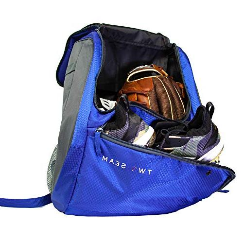 Two - Baseball Bat Bag Adult Youth for Kids Baseball Equipment and Cleat