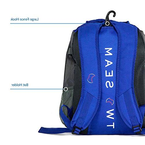 Two - Softball Bag | Baseball Backpack Style Bat Bag Youth | Compartments for Kids Bat, and