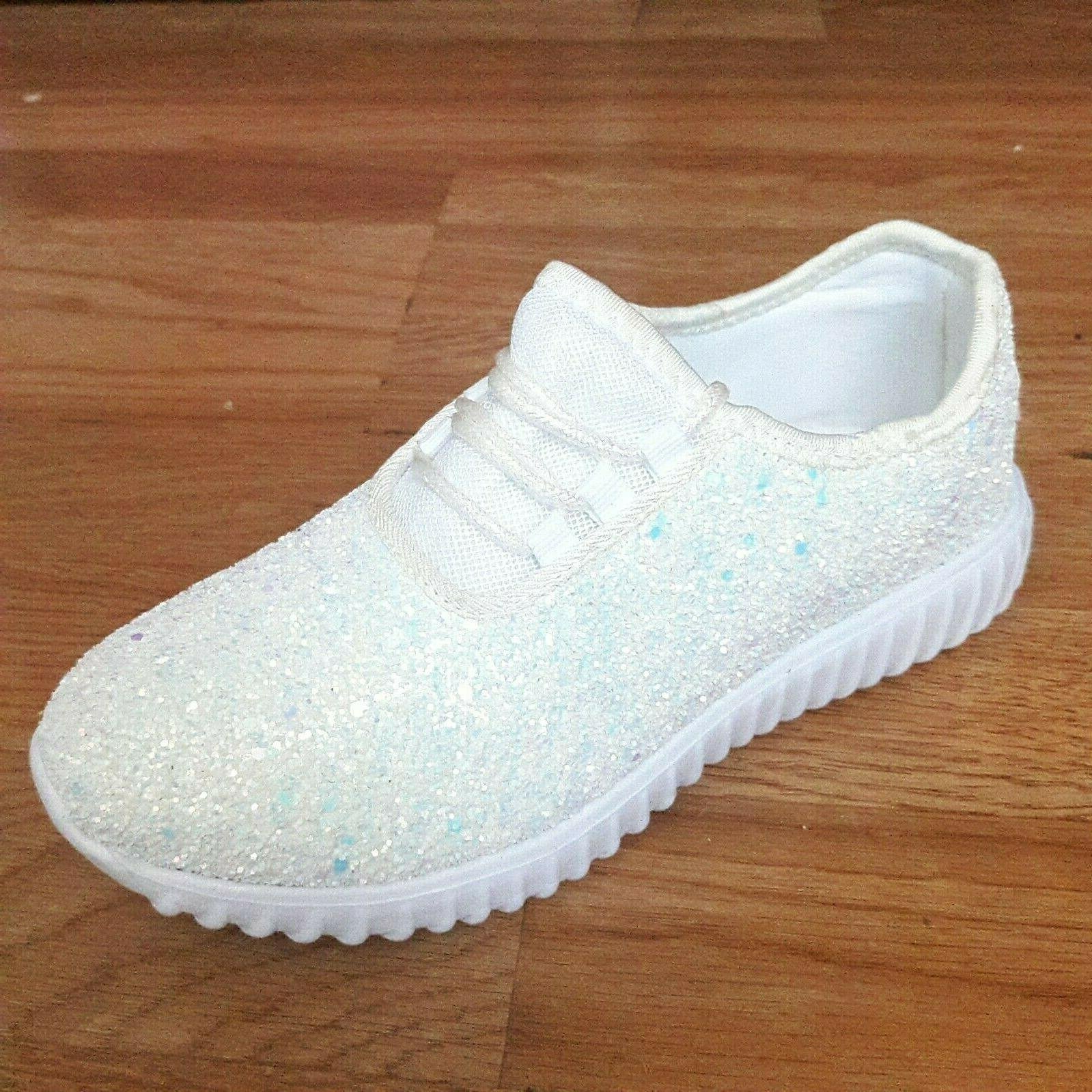 Big Tennis Shoes Glitter Joggers Size
