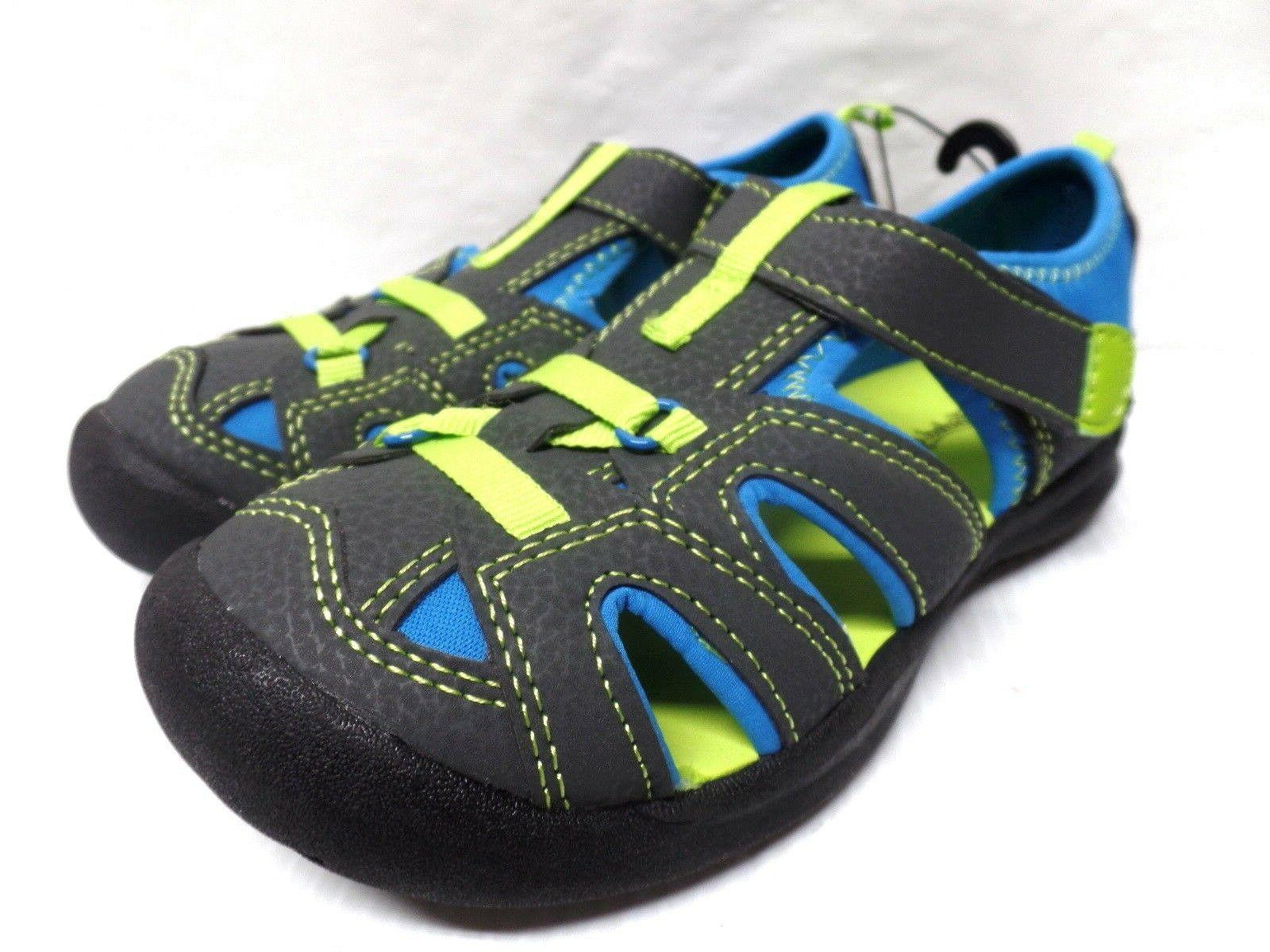 FADED GLORY BOYS CASUAL SANDALS SHOES  COLOR GRAY BLUE GREEN