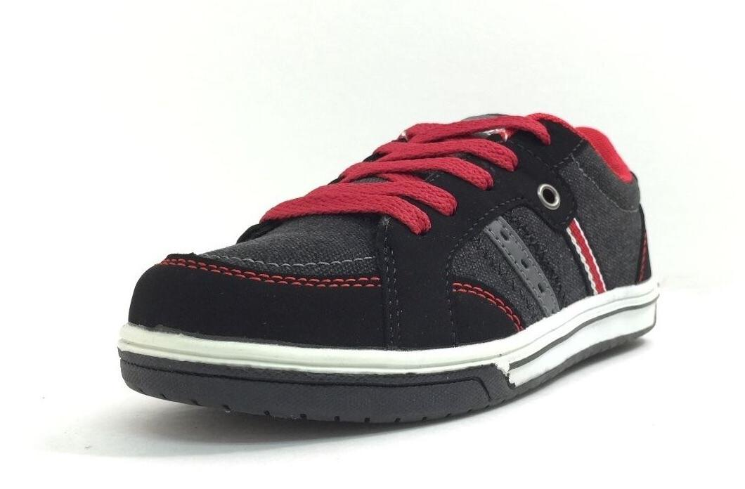Boys COODO 45713 Kids Lace Up Skater Shoes Casual Fashion Sn