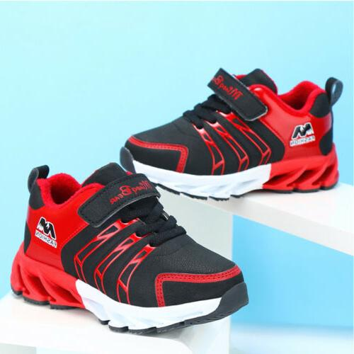 Boys Girls Breathable Sneakers Kids Running Althletic Sport Shoes
