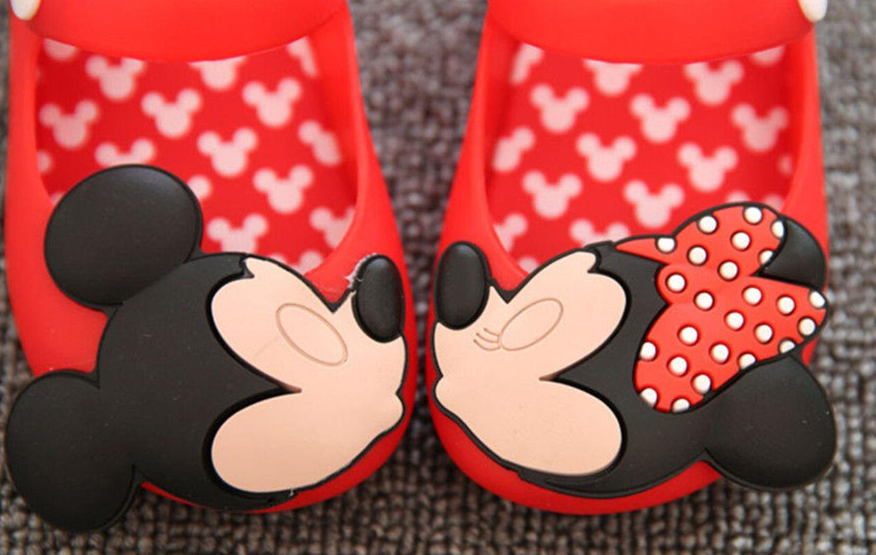 Casual Minnie sandals Jelly Shoes Kids Toddler US