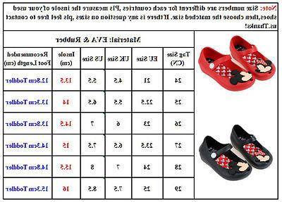 Casual Minnie sandals Jelly Shoes Kids Girl US