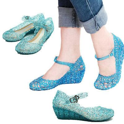 Kids Girls Jelly Party Cosplay Princess Shoes