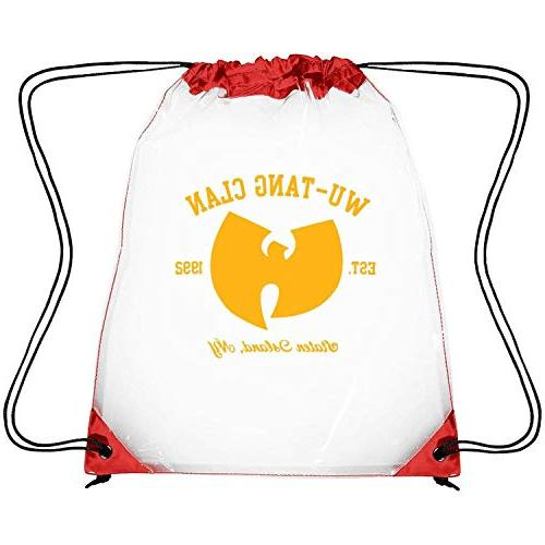 clear drawstring backpack rock music