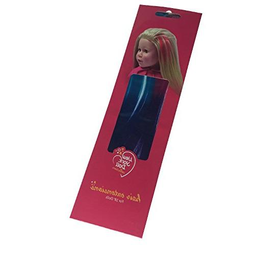 Clip Extensions Light & for and Girl - Doll in Blue/Blue 18 inch