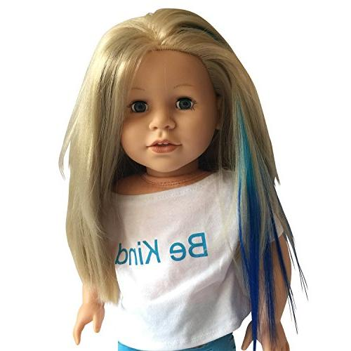 Clip In Light Blue/Blue & for inch and Girl - Doll in Blue/Blue & 18 Dolls