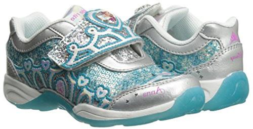 Stride Disney Light-Up ,Silver/Turquoise,10.5 US Little