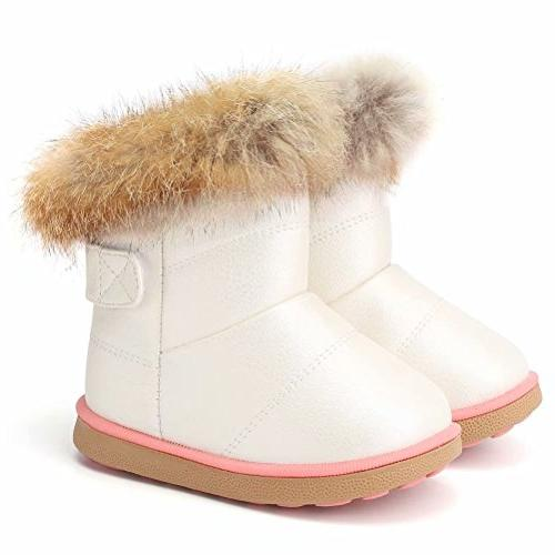 fantiny toddler girl s winter snow boots