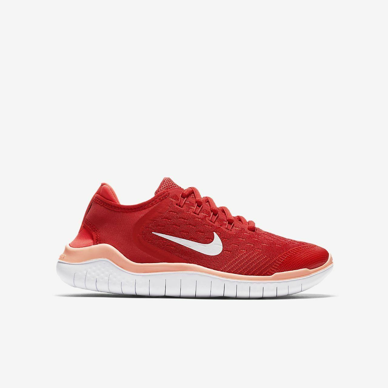 Nike Free RN 2018 AH3451 600 Speed Red Vast Grey Big Kids' Running Shoes