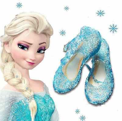 Kids Girls Crystal Sandals Princess Cosplay Hollow Shoes