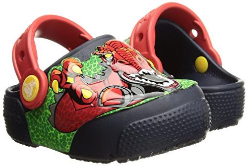 Crocs Kids' Fun Light-Up Clog, Robosaur 13 M US Little